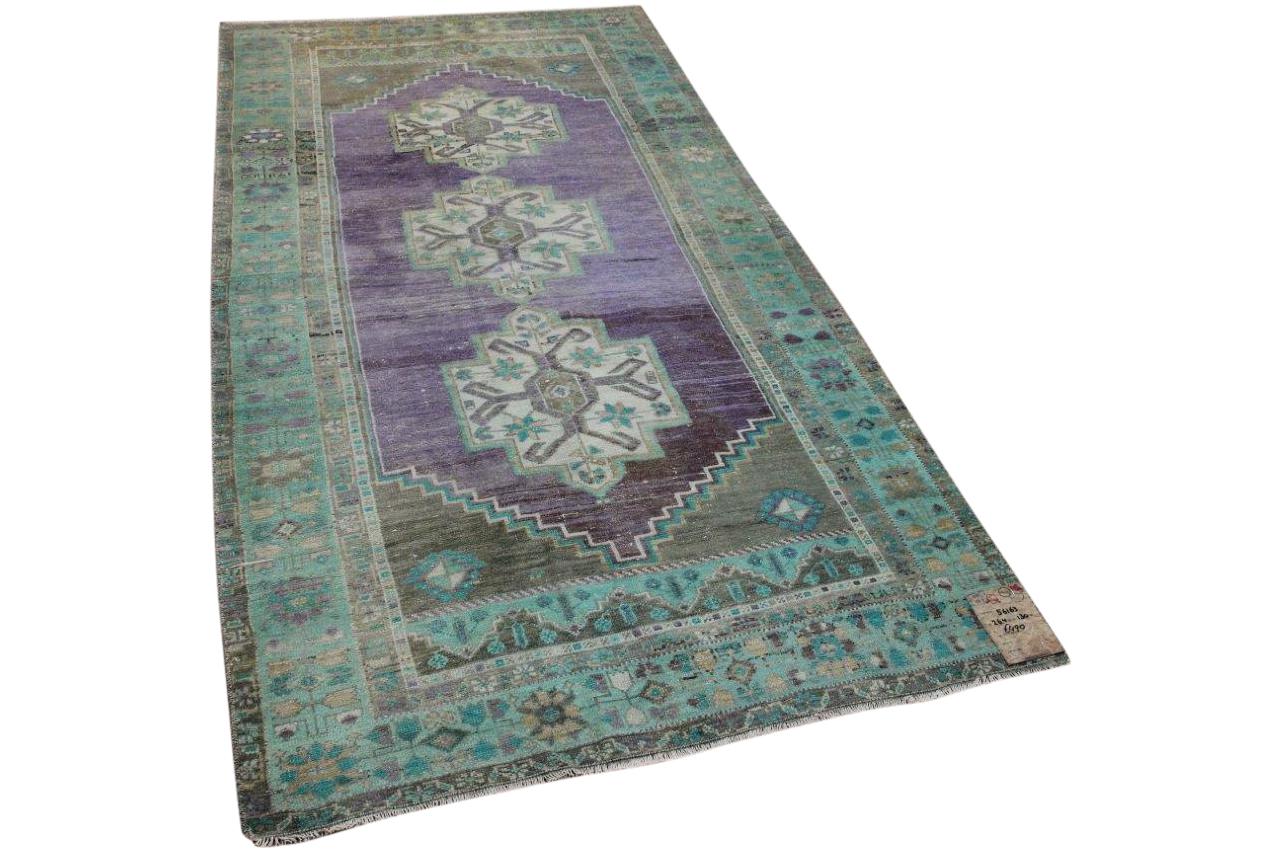 Vintage vloerkleed met paars 56163 264cm x 130cm