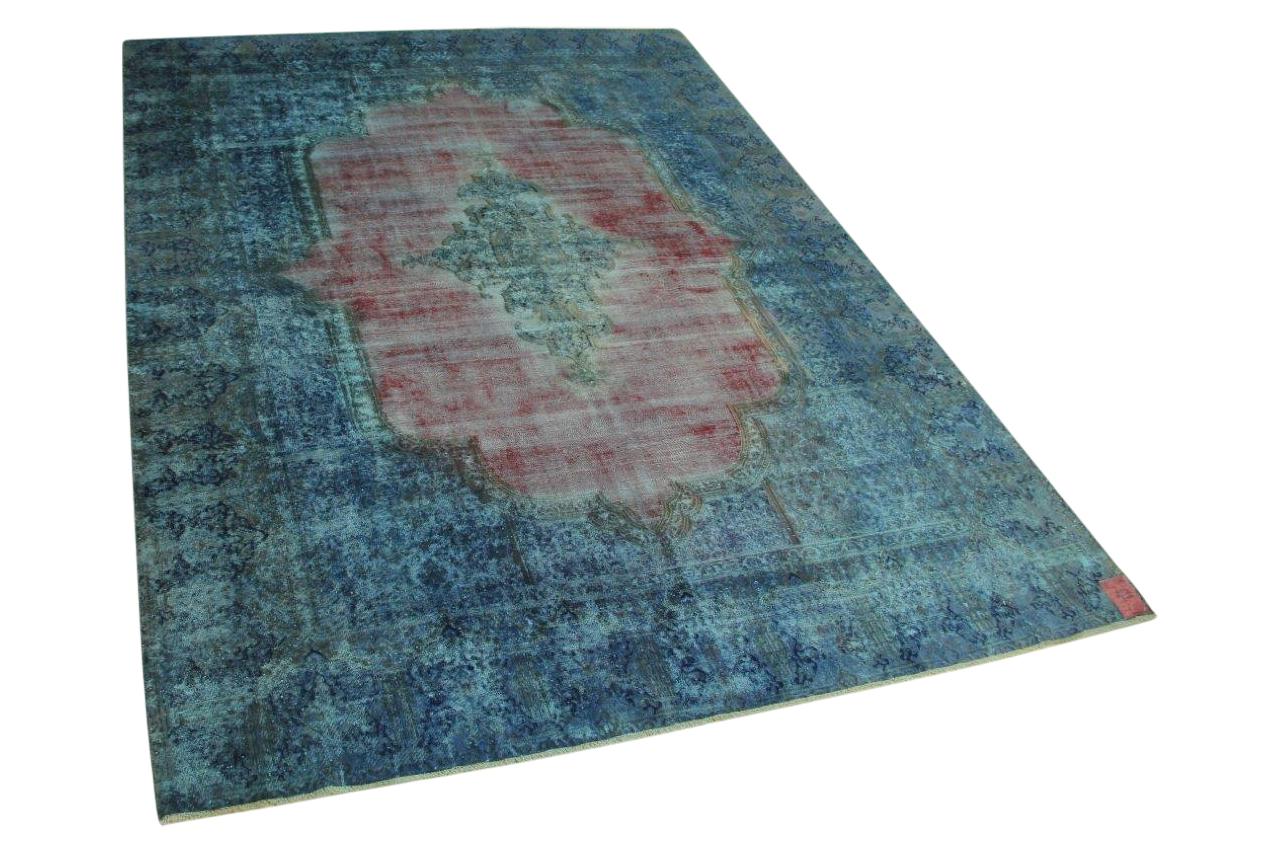 blauw vintage vloerkleed 385cm x 286cm nr56334