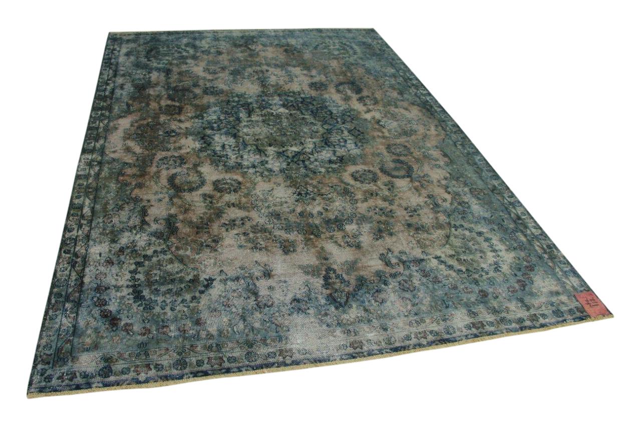 Blauw vintage vloerkleed 326cm x 224cm nr56336