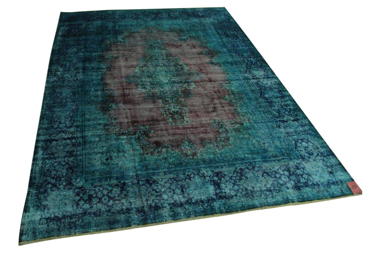 Blauw vintage vloerkleed 398cm x 295cm nr56385