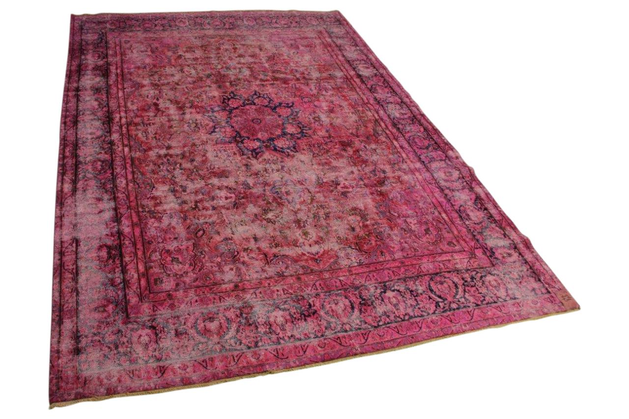Roze vintage vloerkleed 405cm x 284cm nr56386