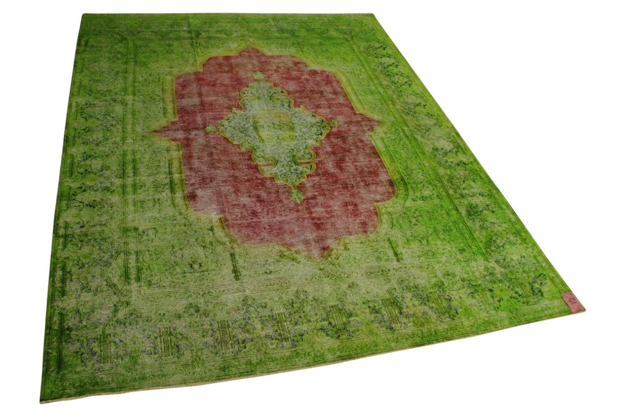 groen vintage vloerkleed 378cm x 301cm nr56387