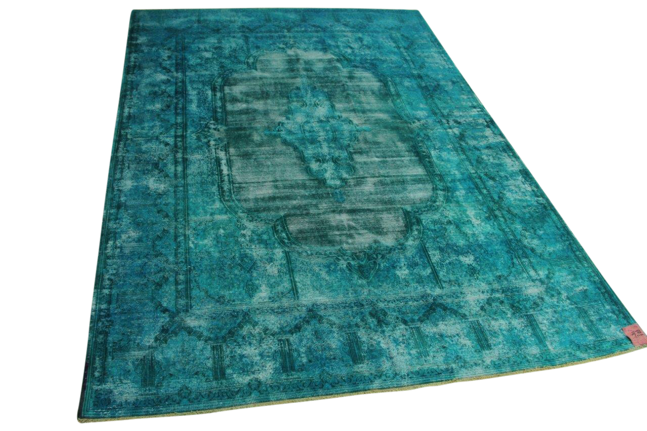 Aqua vintage vloerkleed 409cm x 288cm nr56388