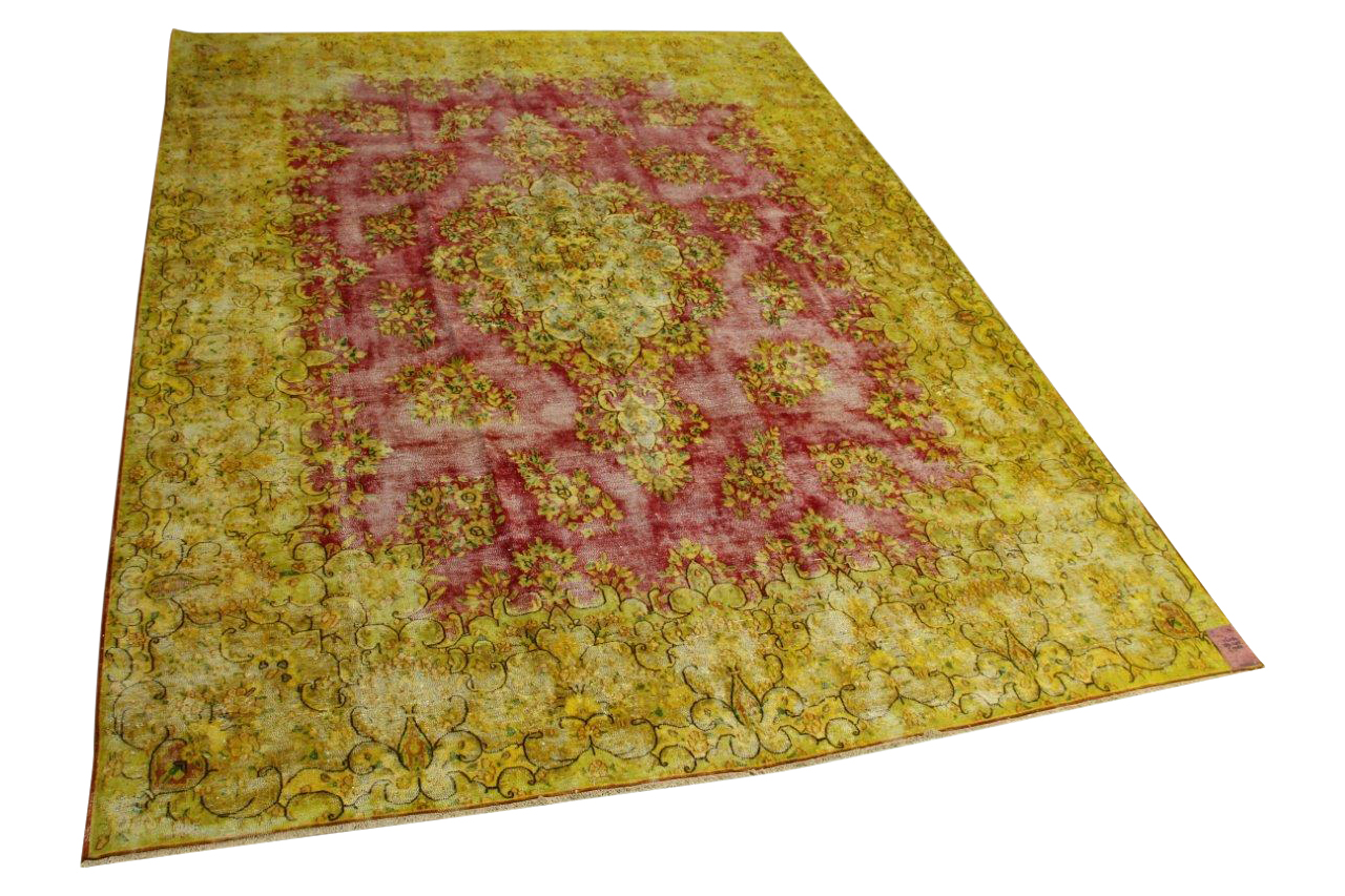 Geel, rood vloerkleed 384cm x 295cm nr56389