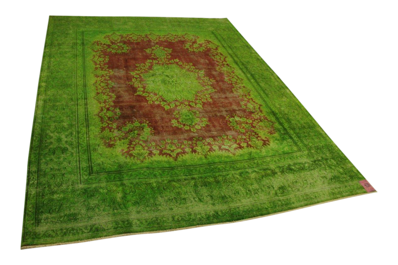 Groen vintage vloerkleed 380cm x 287cm nr56390