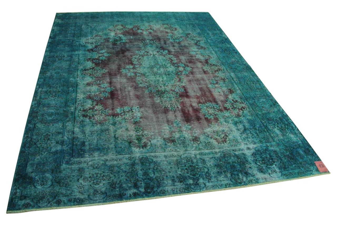 Blauw vintage vloerkleed 385cm x 291cm nr56391