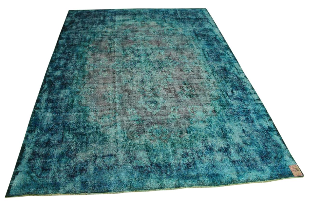 blauw vintage vloerkleed 402cm x 292cm (fotoshoot vtwonen)