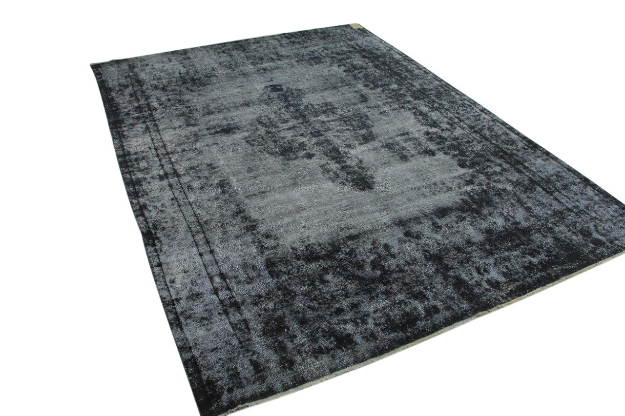 Vintage vloerkleed zwart