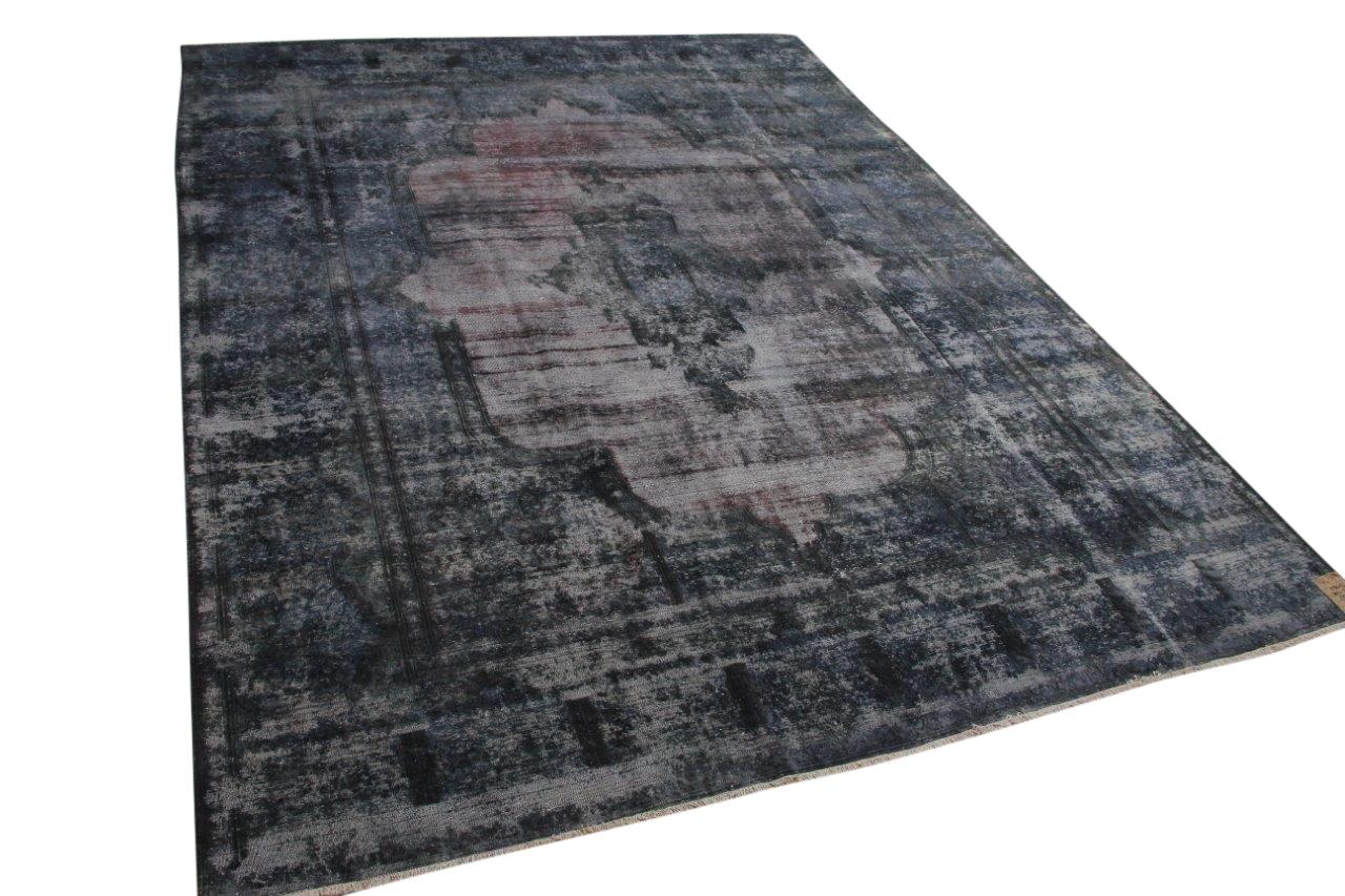 vintage vloerkleed grijs, blauw 58407 392cm x 292cm