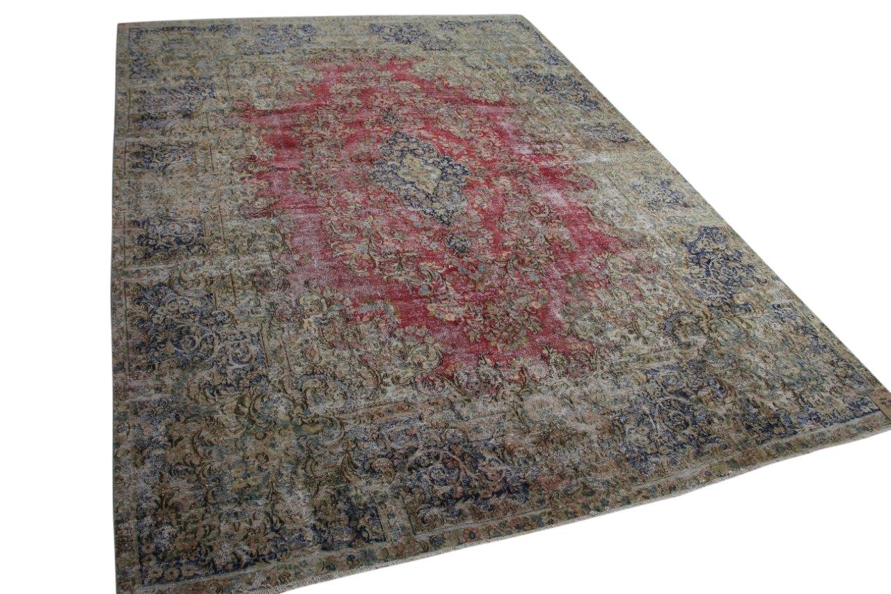 Vintage vloerkleed met rood 58415 388cm x 284cm