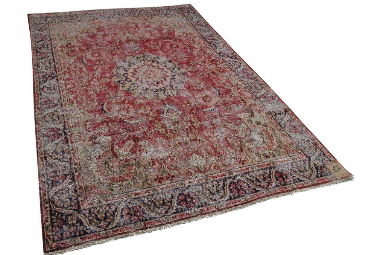 Vintage vloerkleed rood 58420 284cm x 190cm