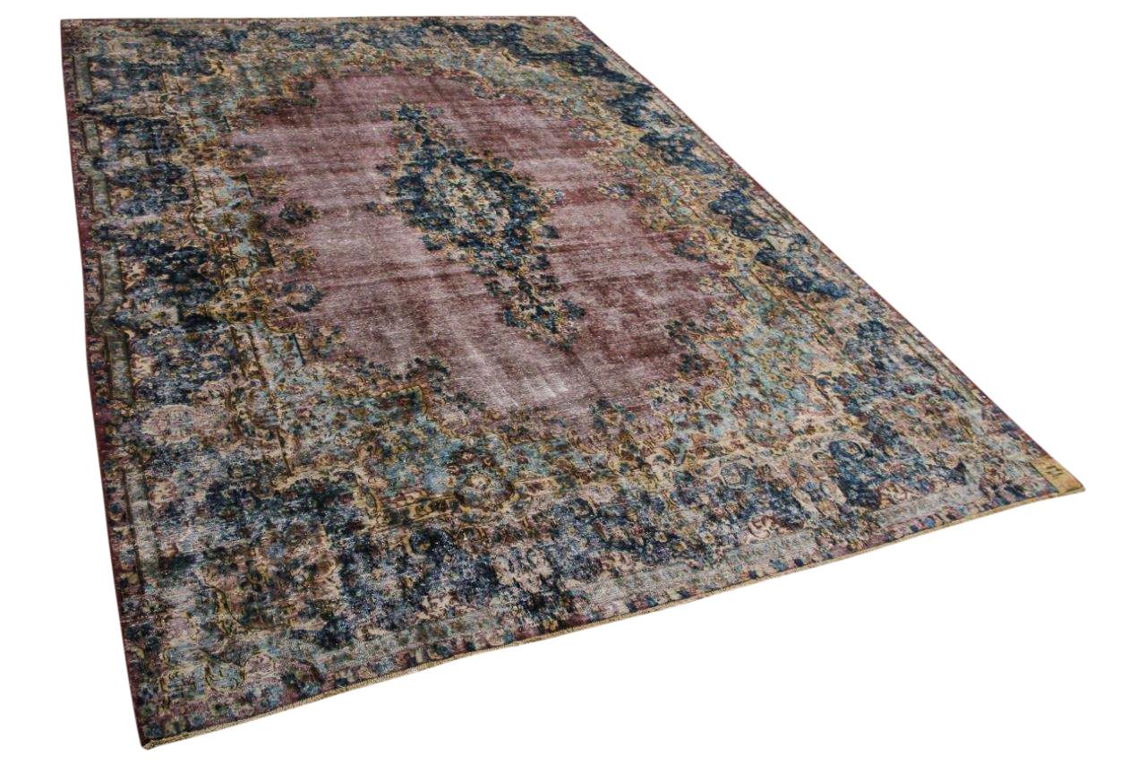 Vintage vloerkleed, met blauw en rood, 58567, 395cm x 287cm