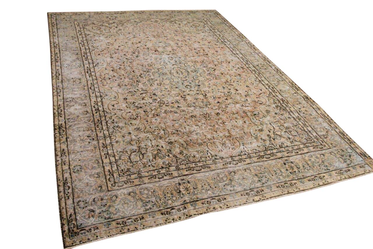 Vintage vloerkleed, zandkleur, 59429, 387cm x 286cm