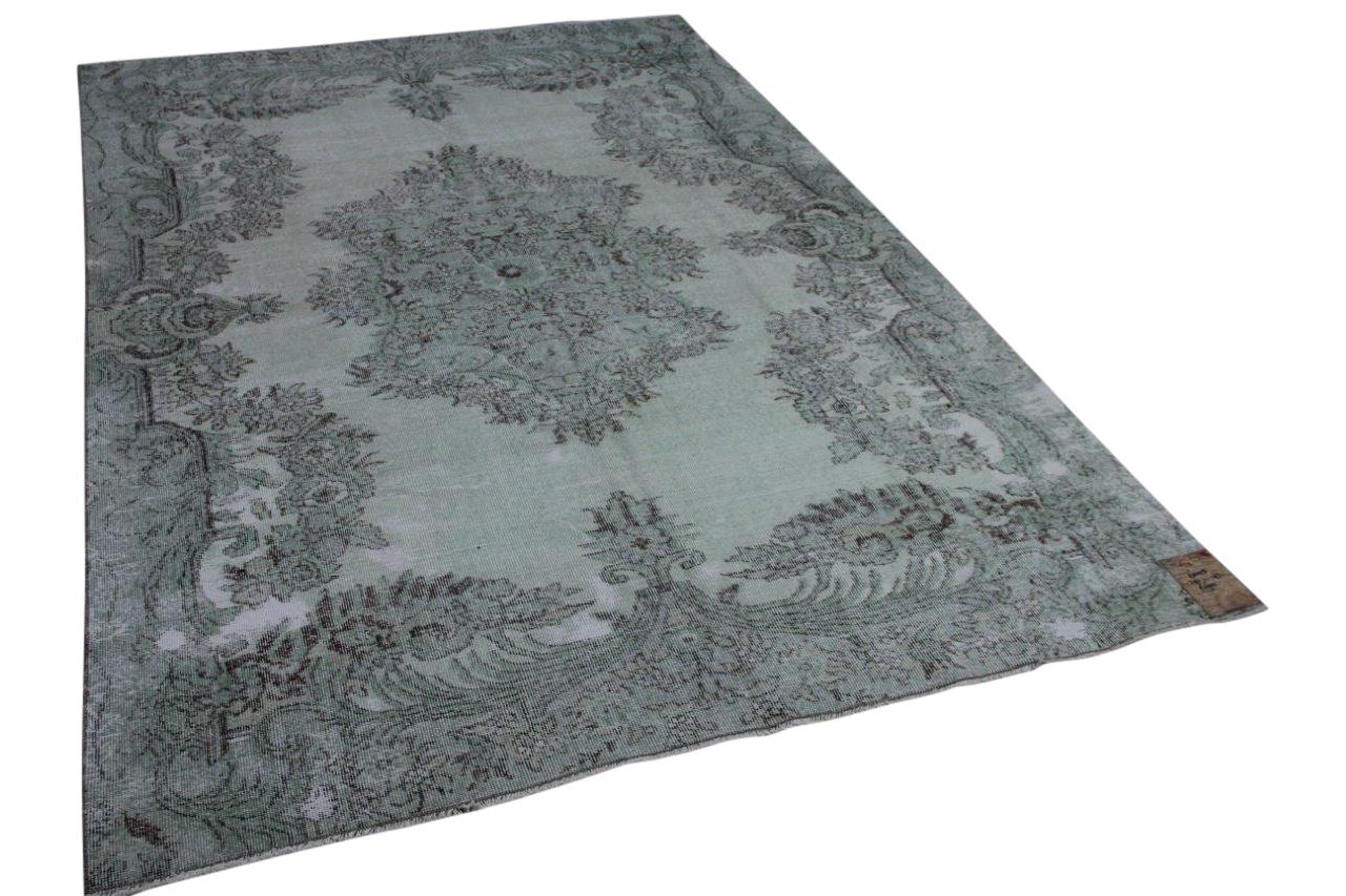 Vintage vloerkleed grijs groen 291cm x 193cm