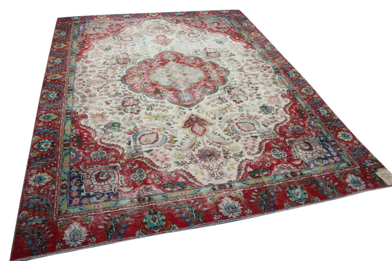 Vintage vloerkleed, rood, 60102, 326cm x 233cm