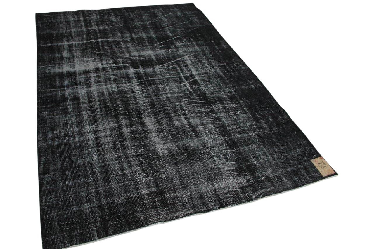 Vintage vloerkleed zwart 60478 260cm x 184cm