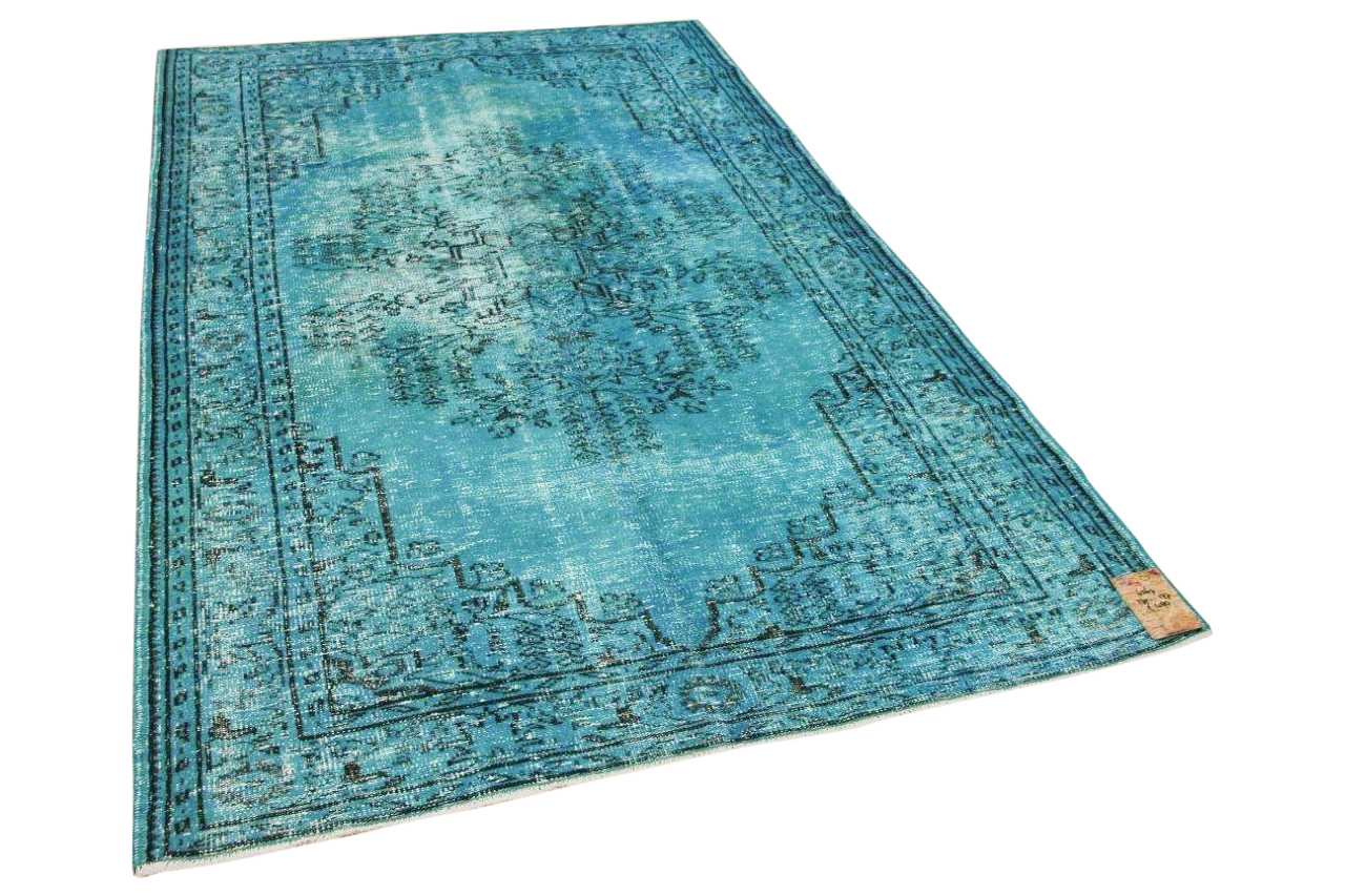 vintage vloerkleed blauw 6367 270cm x 177cm