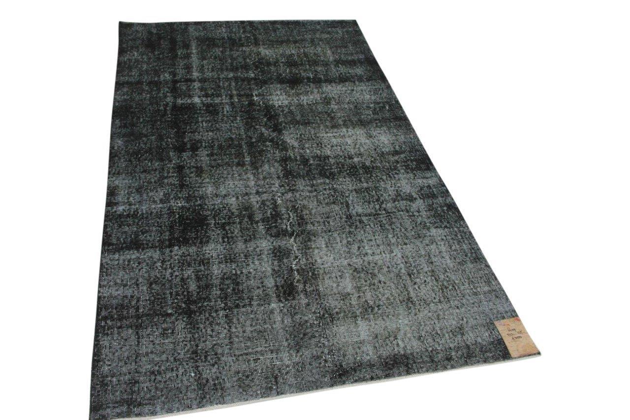 Vintage vloerkleed zwart  243cm x 145cm