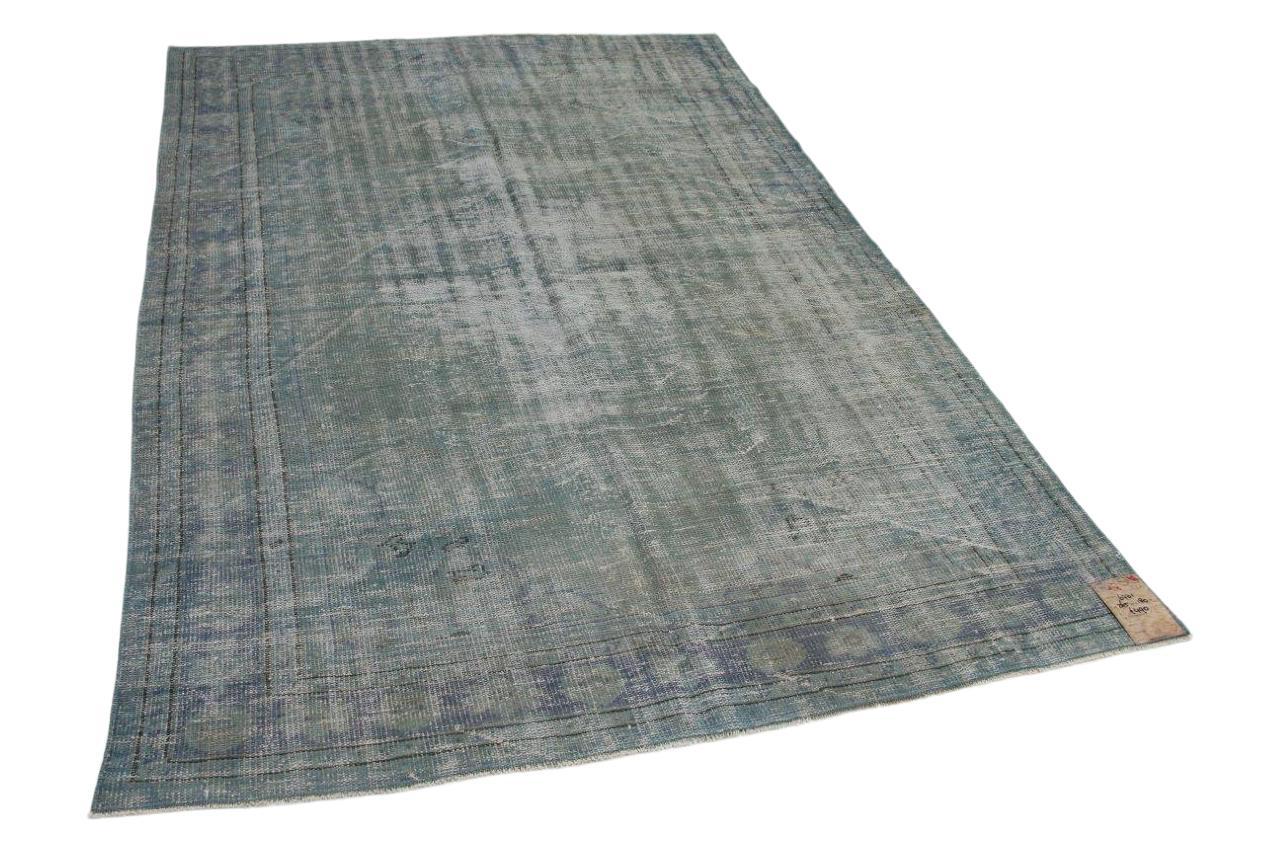 Vintage vloerkleed taupe blauwkleuren  265cm x 180cm