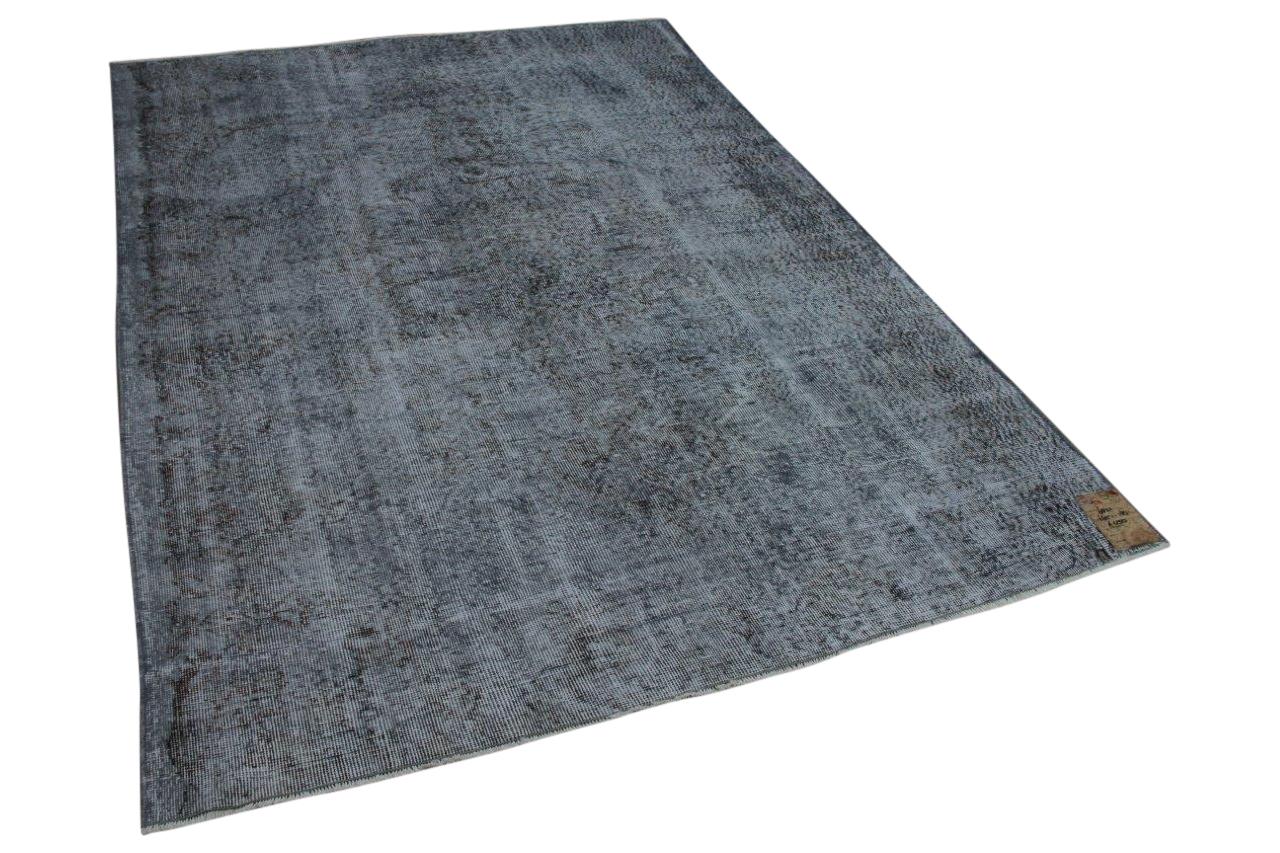 Vintage vloerkleed grijs 265cm x 185cm, nr 6821