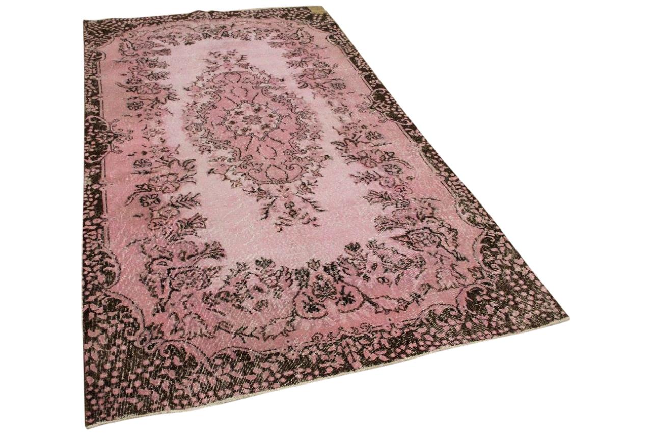 Vintage vloerkleed roze 7085 295cm x 160cm