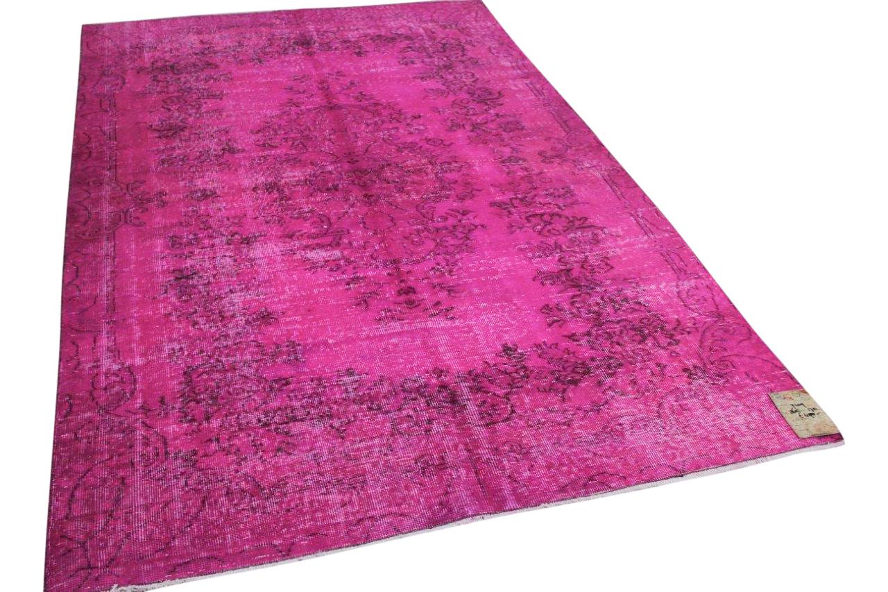 Vintage vloerkleed roze 7109 265cm x 170cm