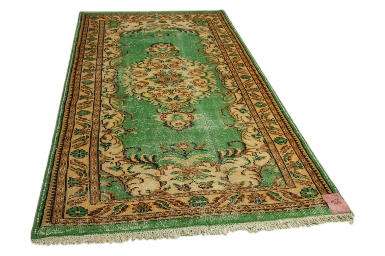 vintage vloerkleed groen 283cm x 160cm