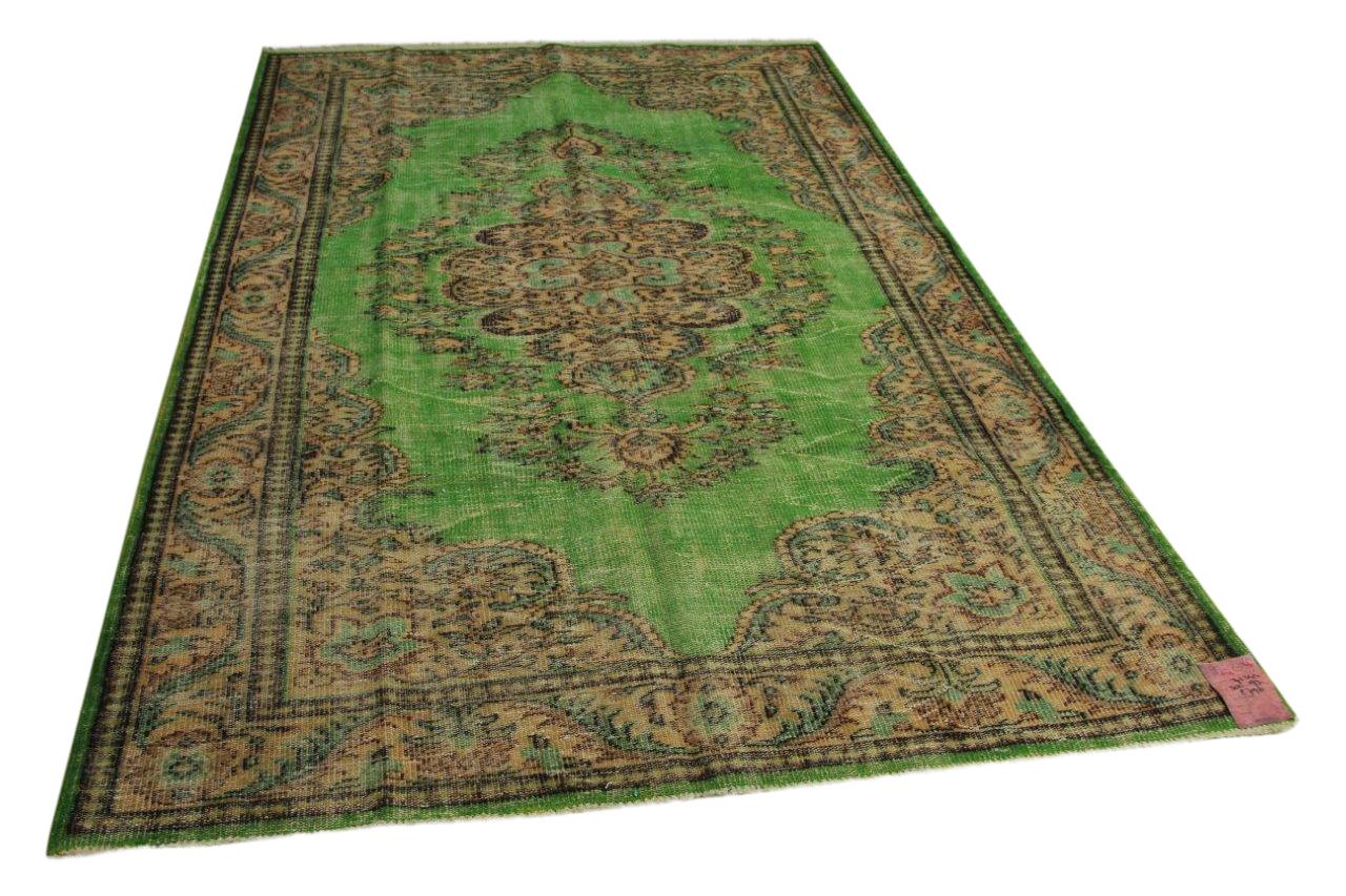 Groen vintage vloerkleed 302cm x 193cm nr71344