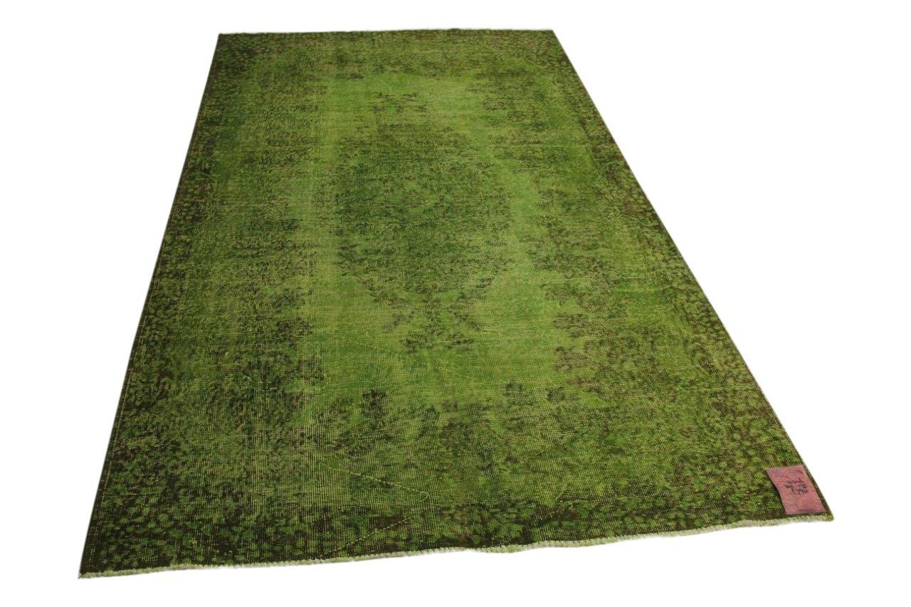 Groen vintage vloerkleed 301cm x 175cm nr71346