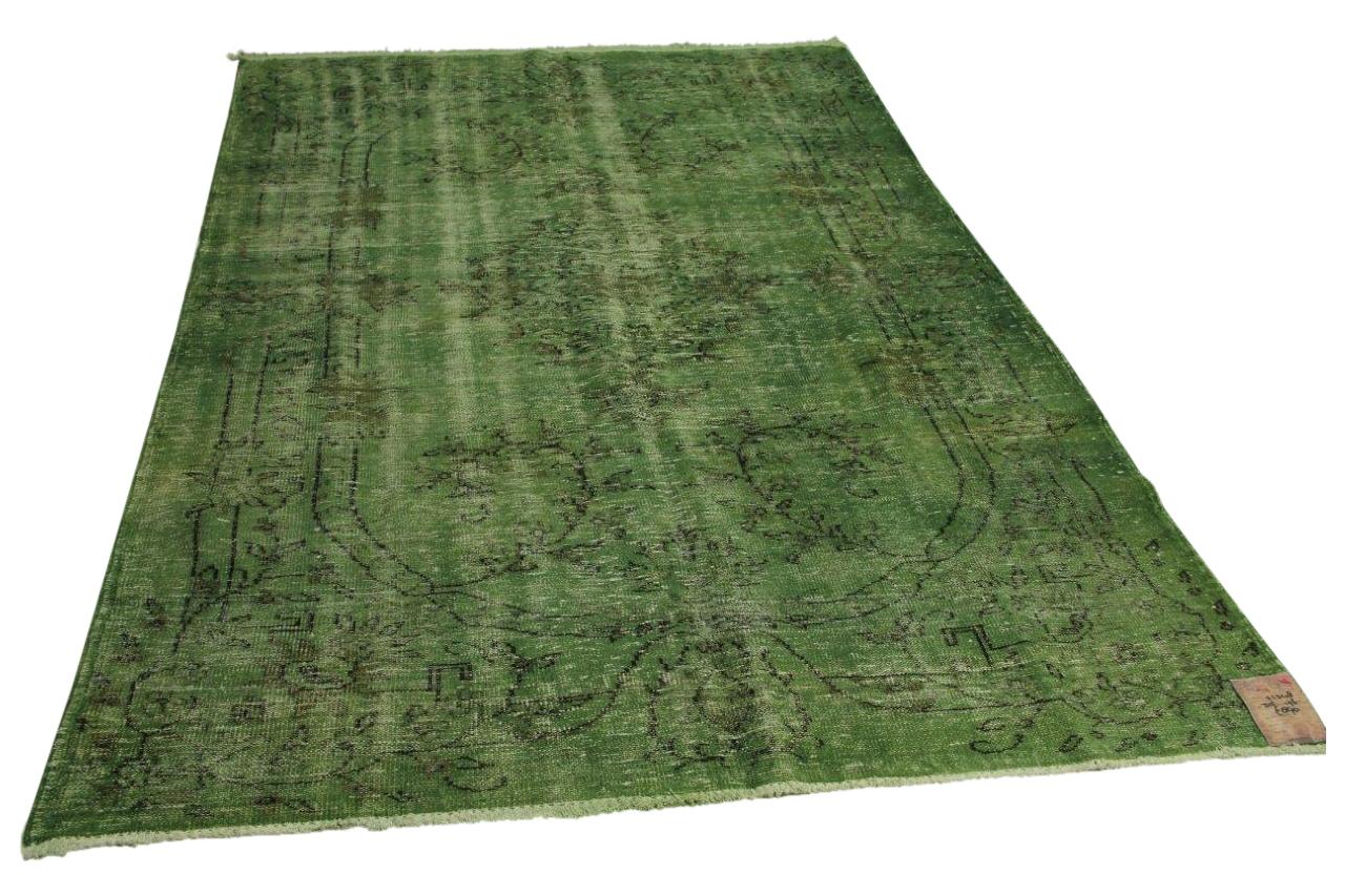 Groen vintage vloerkleed 315cm x 196cm nr71348