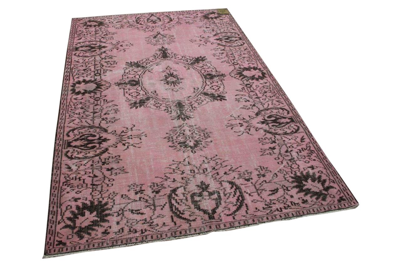 Vintage vloerkleed roze 7147