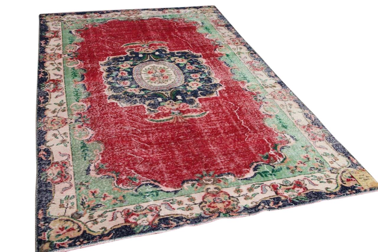 vintage vloerkleed rood 7175 292cm x 182cm