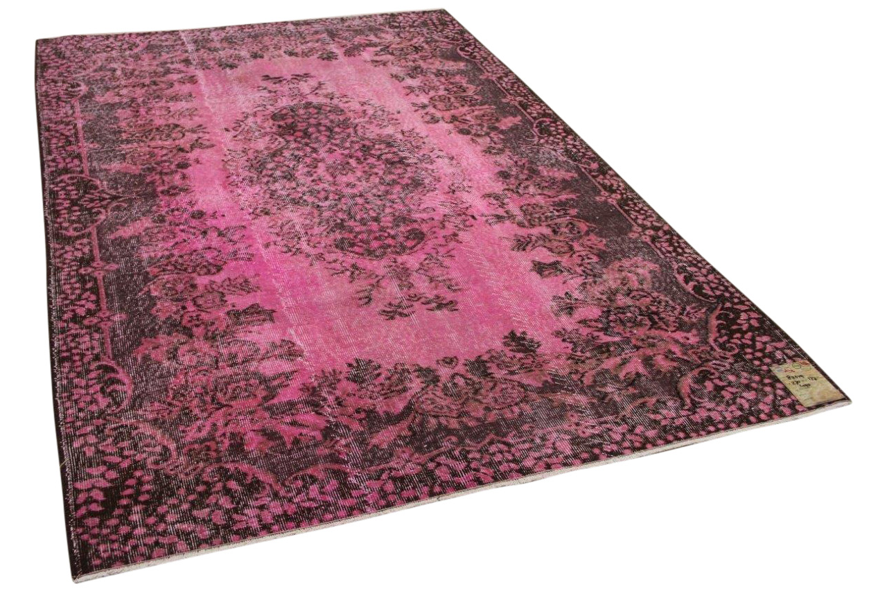 vintage vloerkleed roze 270cm x 177cm