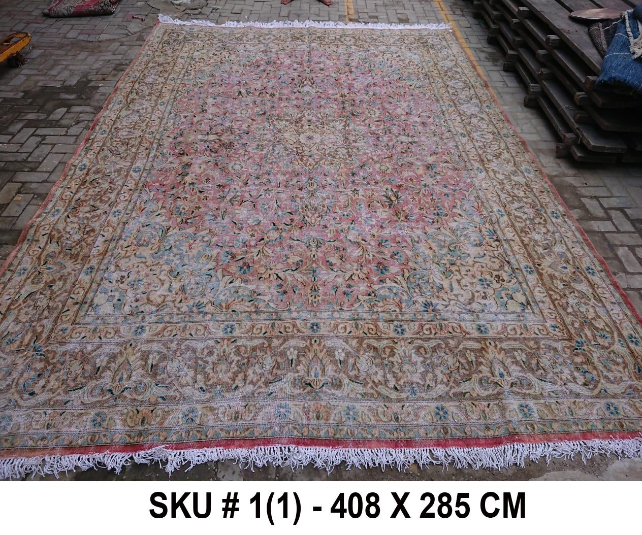 Vintage vloerkleed, nr.98000, 408cm x 285cm