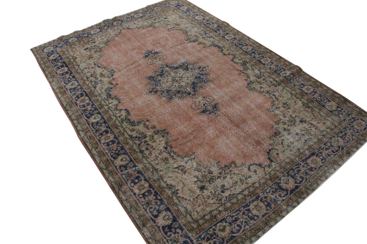 Geschoren vintage vloerkleed nr 1624 (300cm x 213cm) Gratis bezorging, niet tevreden is geld terug!