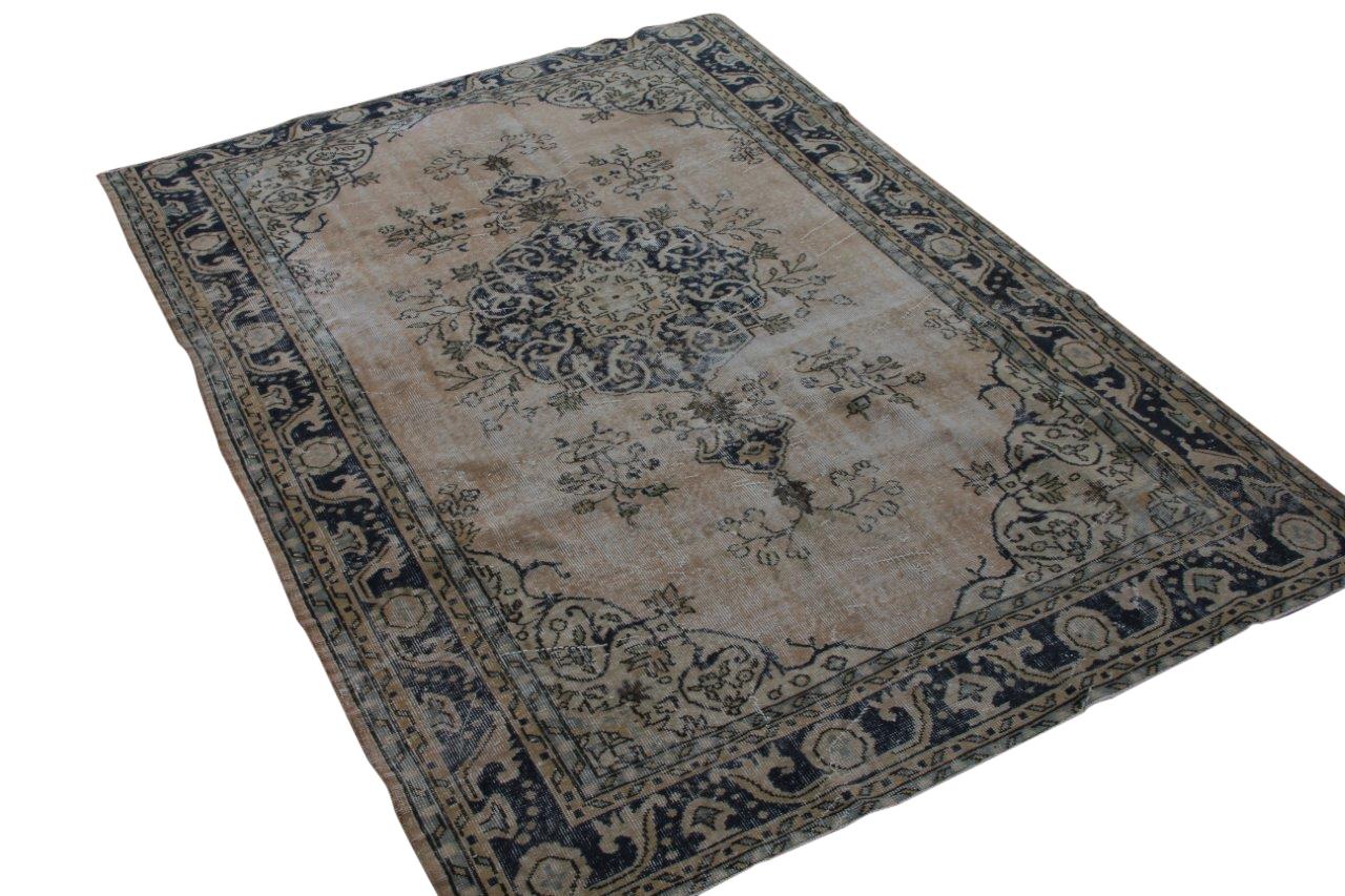 Geschoren vintage vloerkleed nr 1888 (274cm x 190cm) Gratis bezorging, niet tevreden is geld terug!