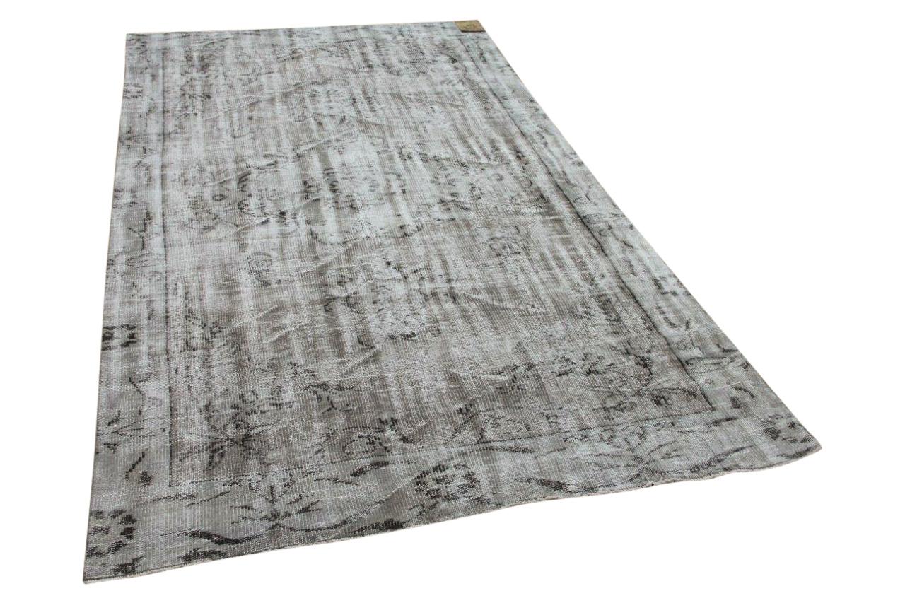Vintage vloerkleed grijs 34355 281cm x 150cm