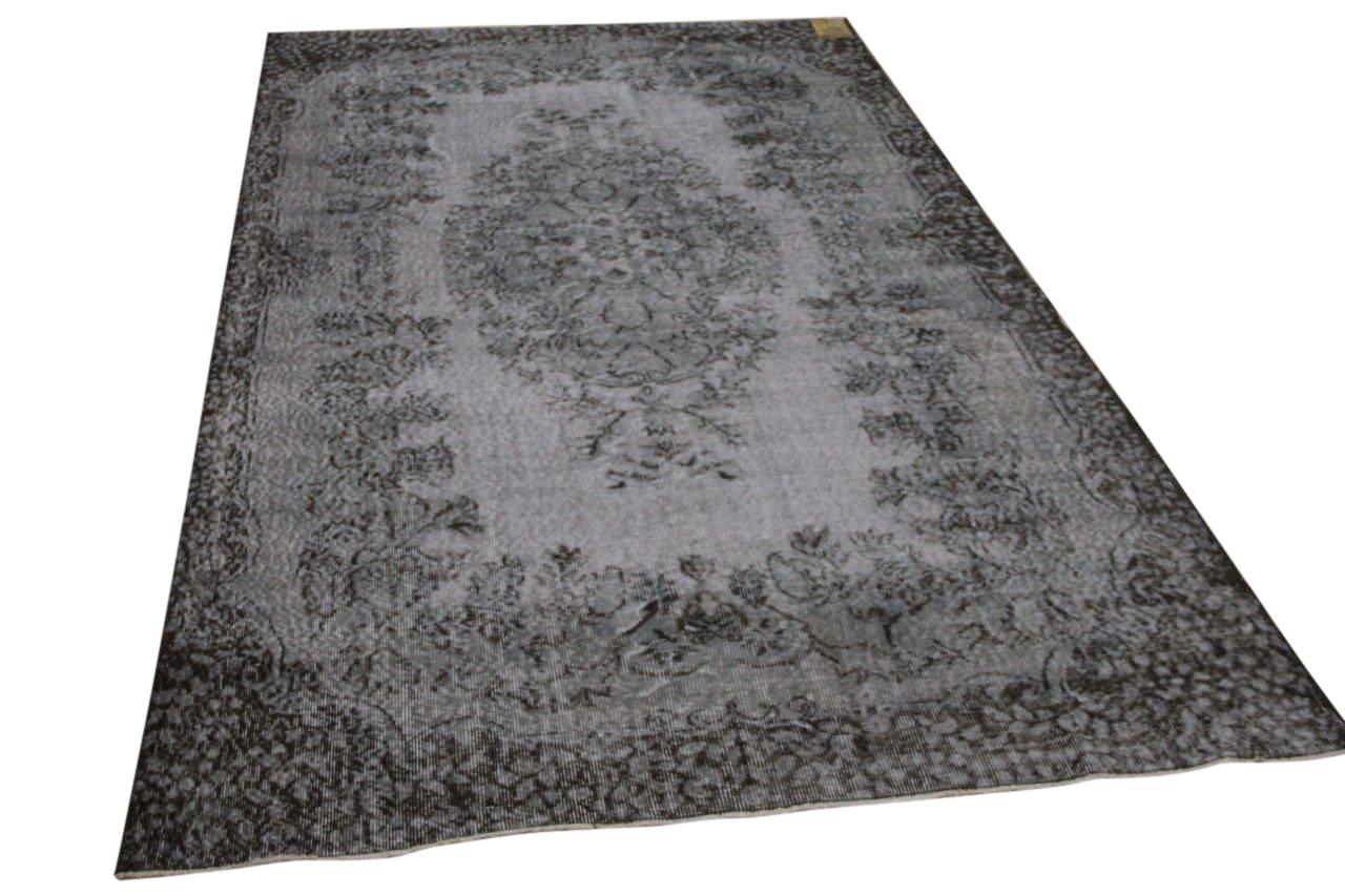 Vintage vloerkleed grijs 34370 290cm x 173cm