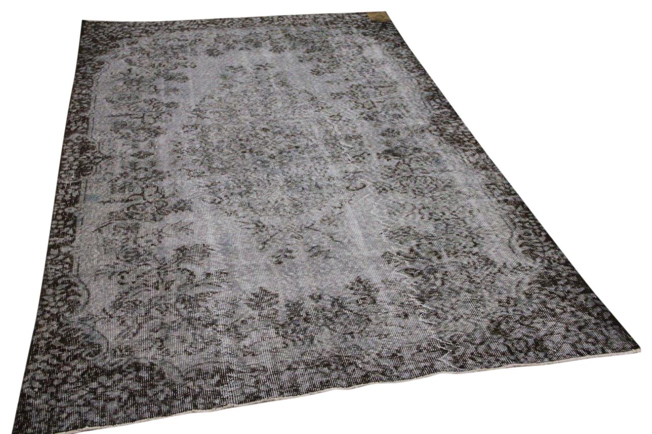 Vintage vloerkleed grijs 34588 263cm x 163cm