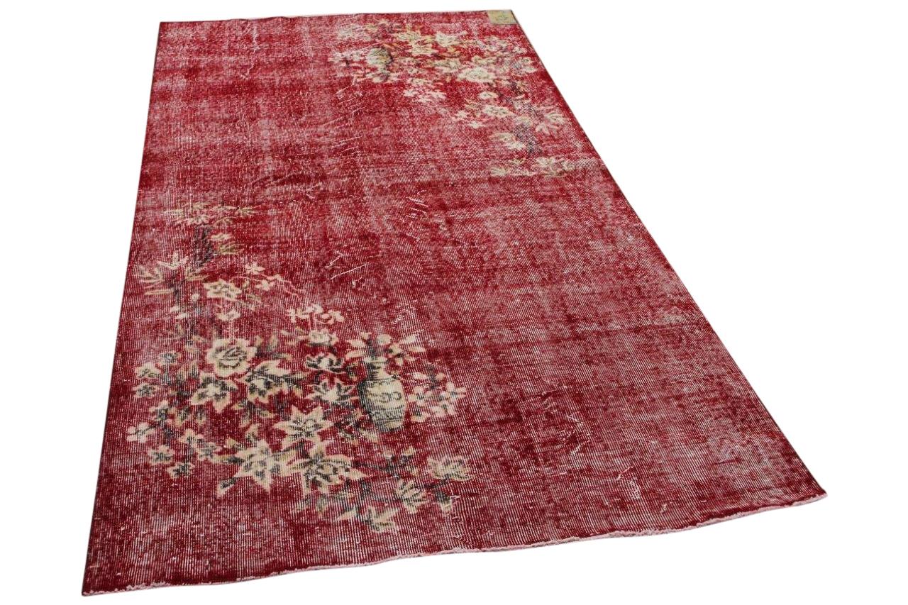 Vintage vloerkleed rood 34708 266cm x 147cm