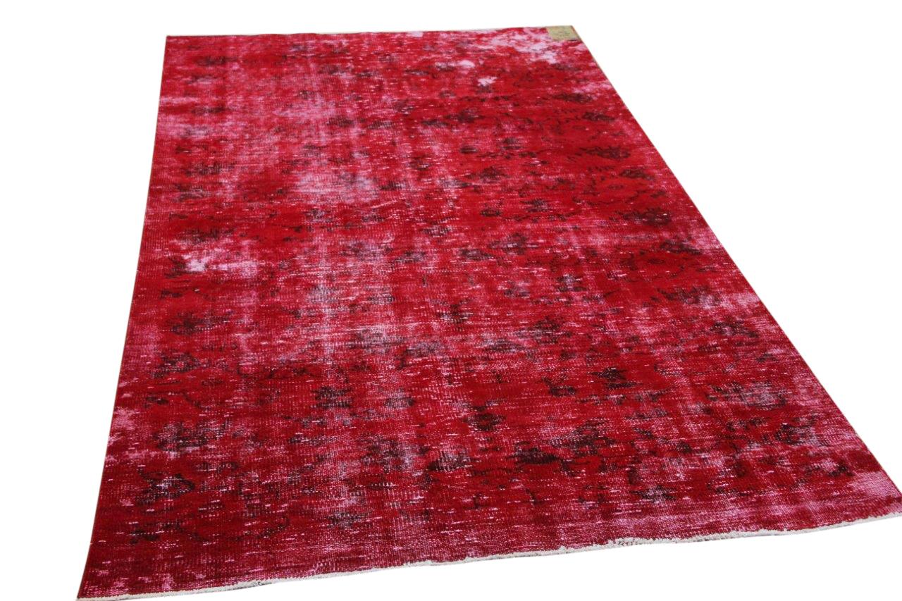 Vintage vloerkleed rood 34716 268cm x 160cm