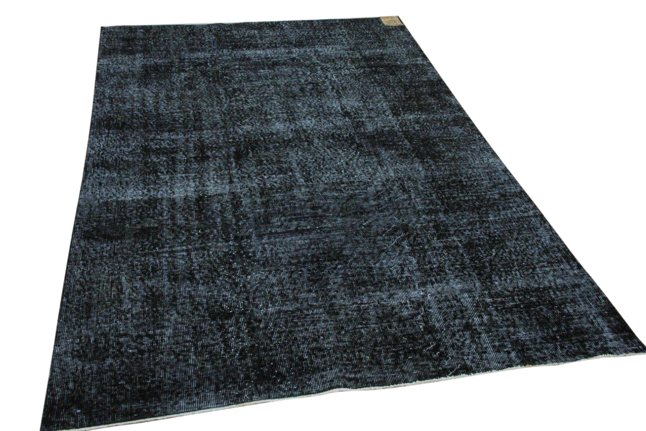 Vintage vloerkleed zwart 34781 266cm x 169cm