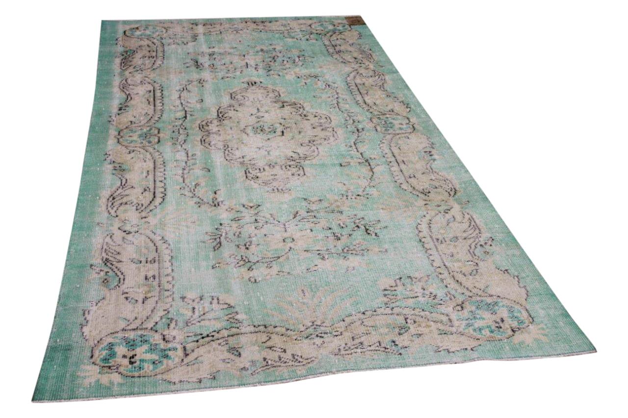 vintage vloerkleed groen 34808