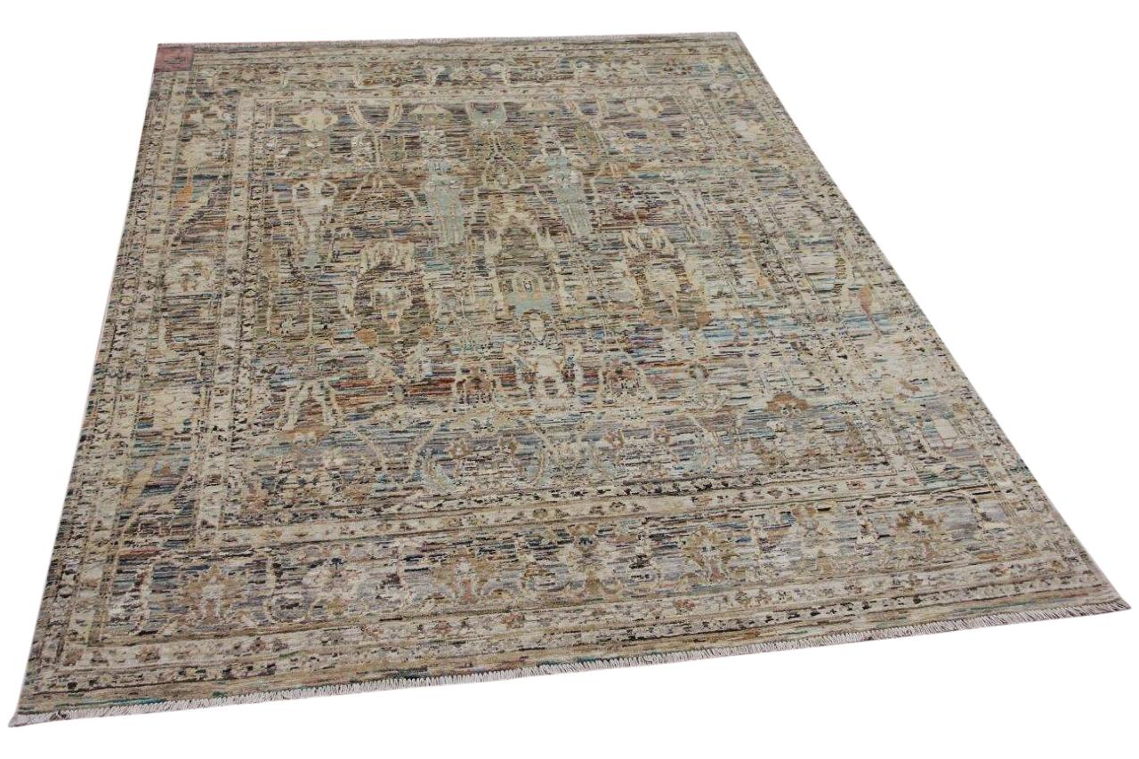 Handgemaakt vloerkleed uit Afghanistan 12844 233cm x 175cm