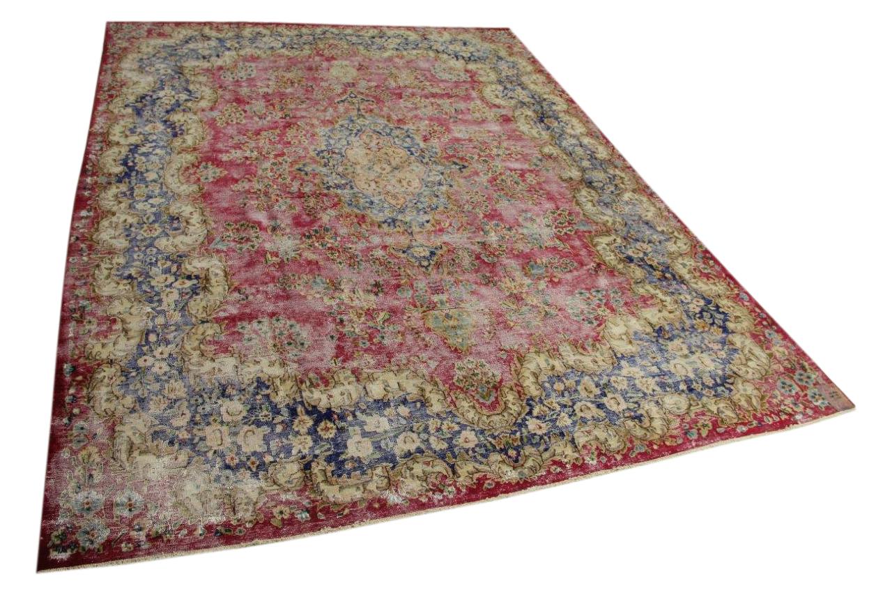 Vloerkleed vintage, rood, donkerblauw 398cm x 294cm nr55844