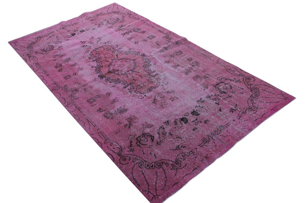 Roze vintage vloerkleed 293cm x 161cm  (nr69048)