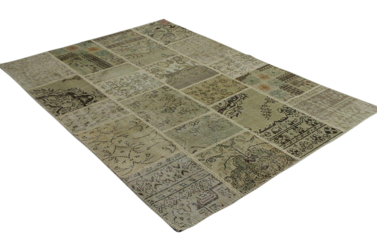Zandkleurig patchwork vloerkleed 240cm x 170cm 9207