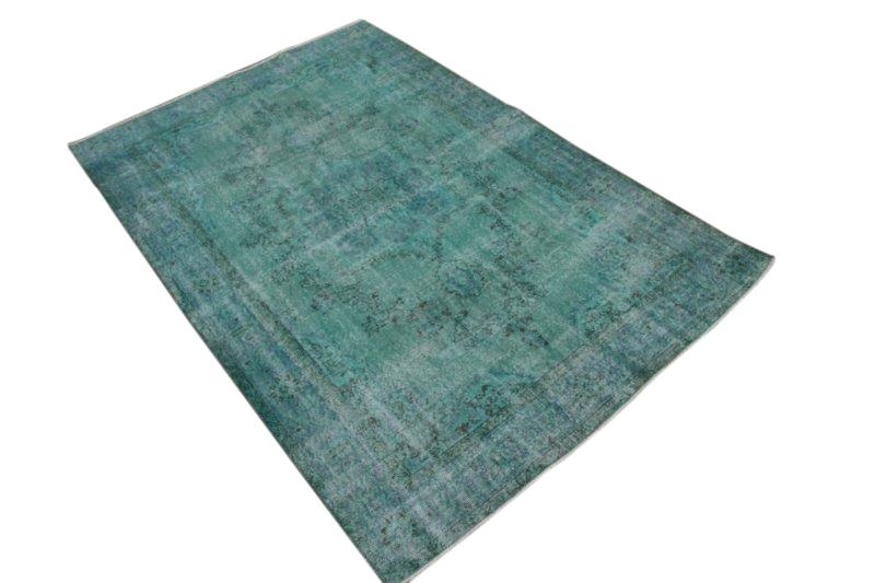 Vintage blauw vloerkleed 260cm-x 174cm  (nr1095)