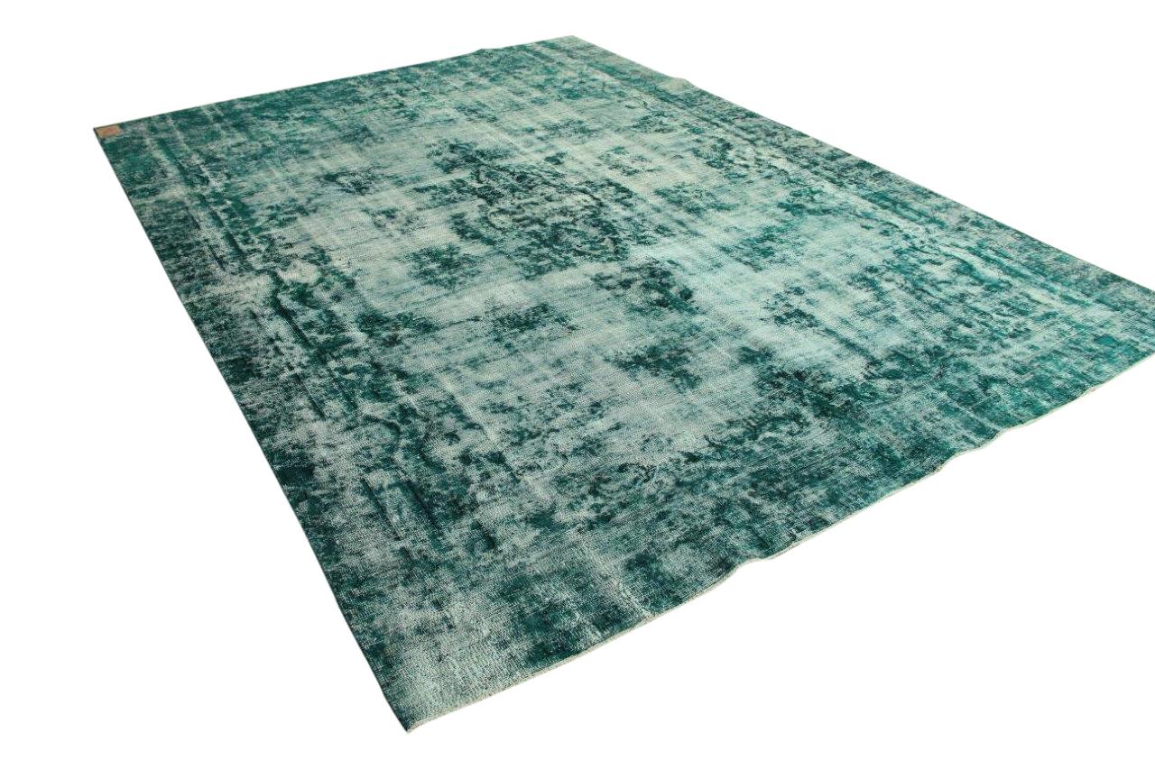 Zeegroen groot vloerkleed uit Iran