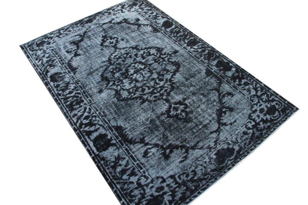 """""""3D look"""" relief geschoren zwart vintage vloerkleed nr 3030 (256cm x 172cm)"""